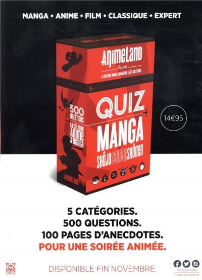 Dos Animeland HS - le manga et ses origines
