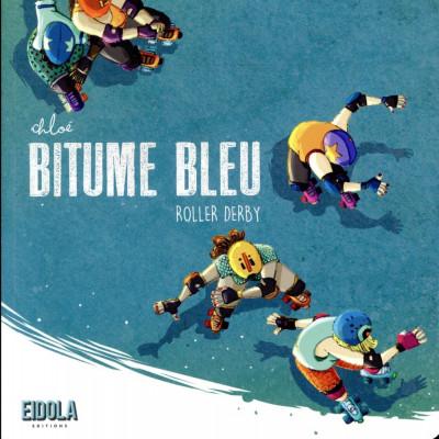 Couverture Bitume bleu - roller derby