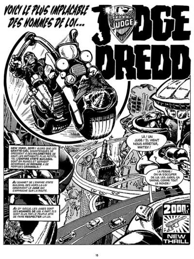 Page 1 Judge Dredd - affaires classées tome 1