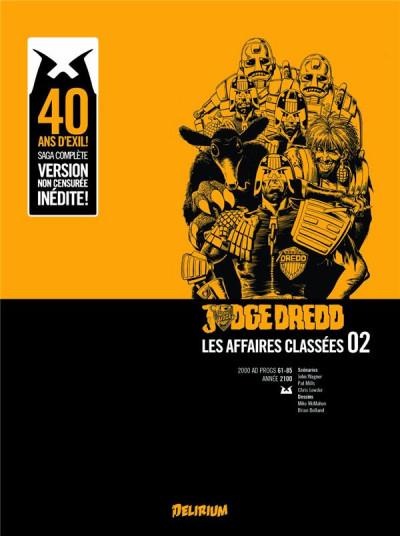 Couverture Judge Dredd, affaires classées tome 2