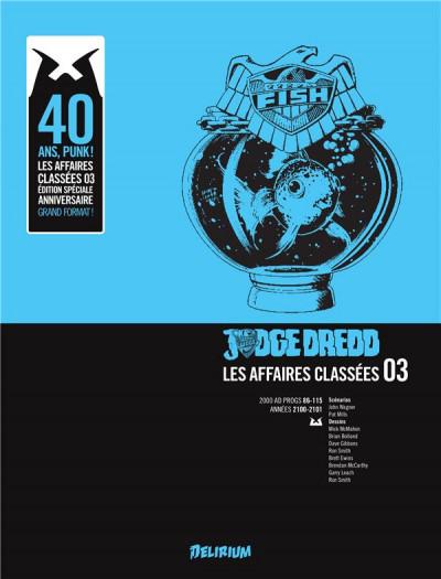 Couverture Judge Dredd - affaires classées tome 3