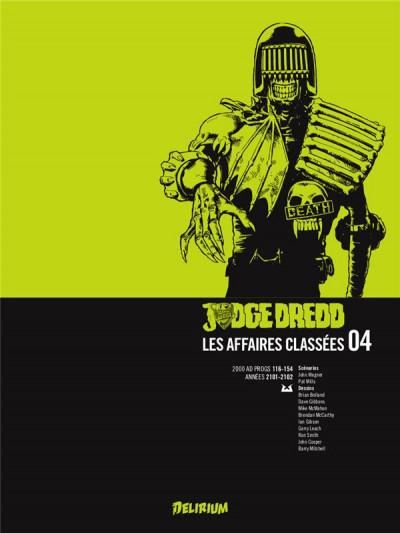 Couverture Judge Dredd - les affaires classées tome 4