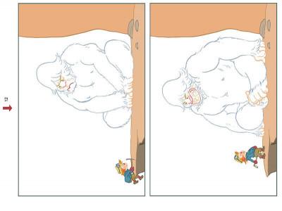 Page 5 Myrmidon et la bête de la montagne
