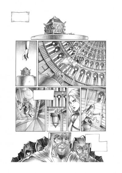 Page 2 Tirage de tête Trois Peuples Intégrale - Crayonné