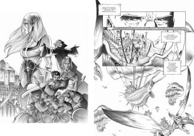 Page 6 Tirage de tête Trois Peuples Intégrale - Crayonné