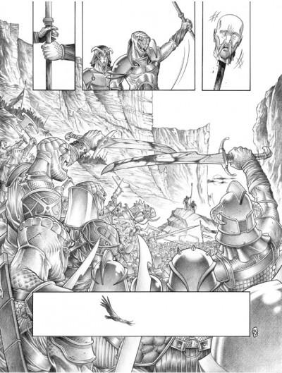 Page 3 Tirage de tête Trois Peuples Intégrale - Crayonné