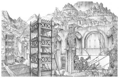 Page 4 Tirage de tête Trois Peuples Intégrale - Crayonné
