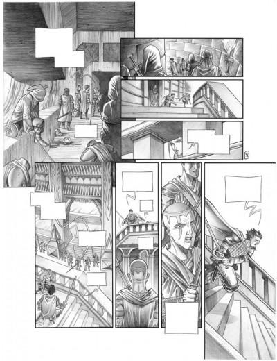 Page 5 Tirage de tête Trois Peuples Intégrale - Crayonné