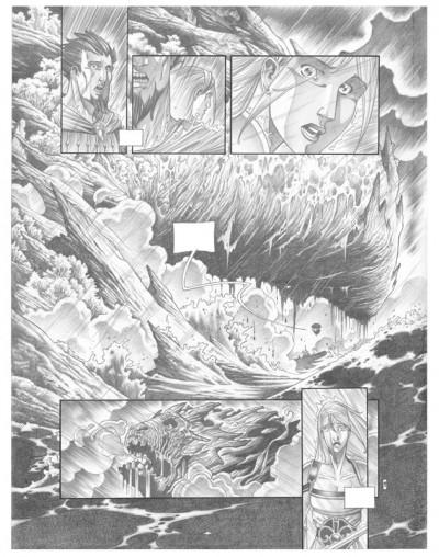 Page 7 Tirage de tête Trois Peuples Intégrale - Crayonné