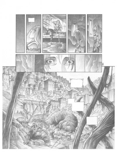 Page 8 Tirage de tête Trois Peuples Intégrale - Crayonné
