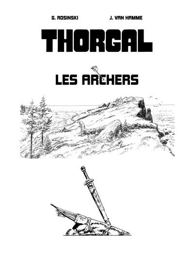 Page 1 Tirage de luxe Thorgal - Les archers