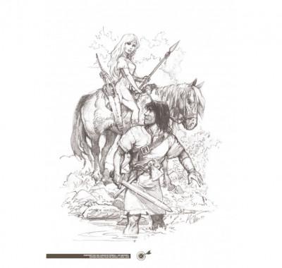 Page 6 Tirage de luxe Thorgal - Les archers