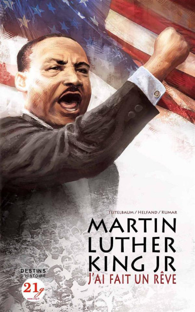 Couverture Martin Luther King Jr ; j'ai fait un rêve