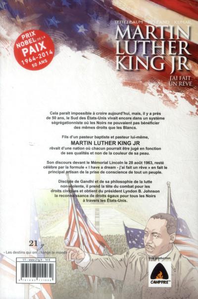 Dos Martin Luther King Jr ; j'ai fait un rêve
