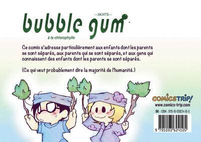 Dos Bubble Gum à la Chlorophylle