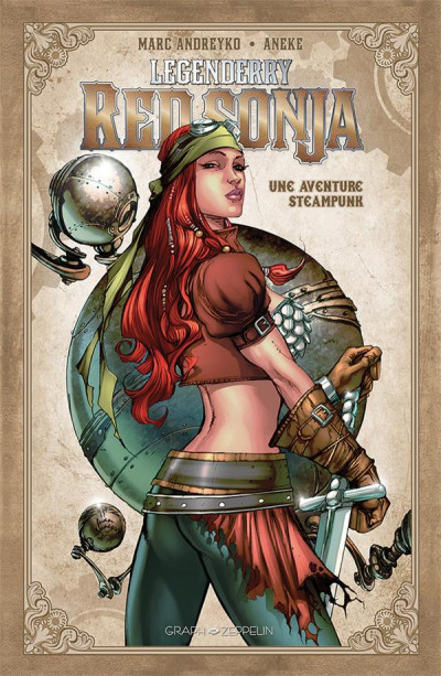 Couverture Legenderry - Red Sonja - Une aventure Steampunk