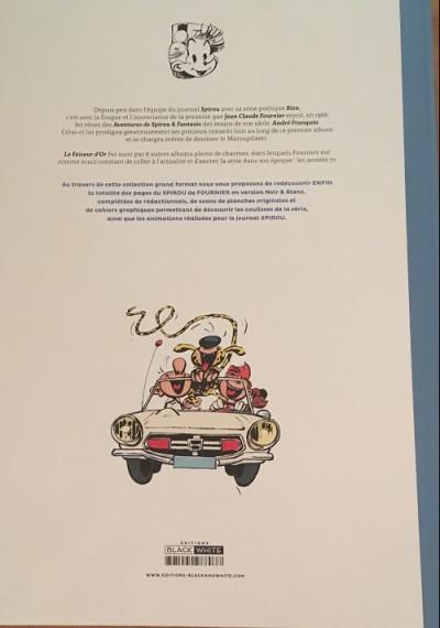 Dos Spirou et Fantasio - tirage de tête tome 20 - Le faiseur d'or