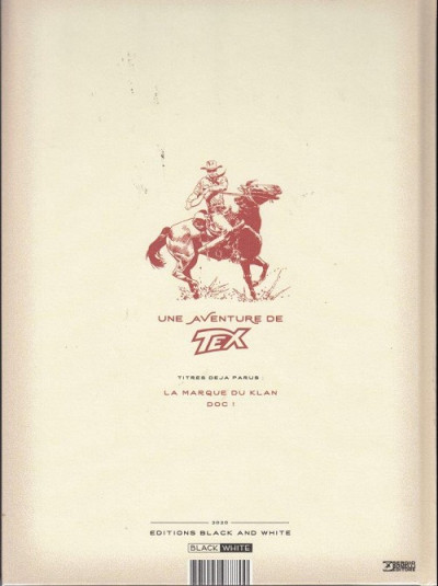 Dos Tex (Black & White) tome 2 (couverture alternative)