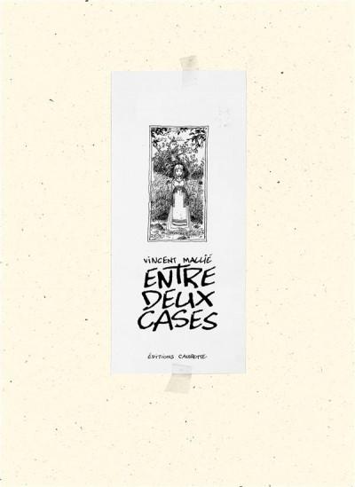 Couverture Entre deux cases - artbook