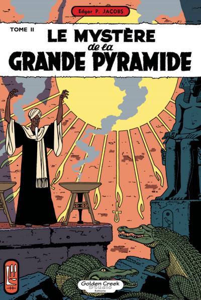 Couverture Blake et Mortimer - tirage de luxe tome 5 - Le mystère de la grande Pyramide II