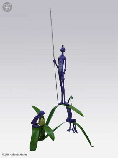 Page e figurine WEED TRIBE