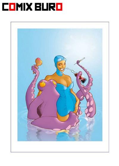 image de Affiche Pin-up et le pouple ;Vatine ; 30x40