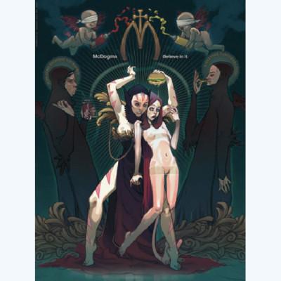 Page 2 Affiche Sky Doll Hommage N°2 ; De Longis ; 30x40