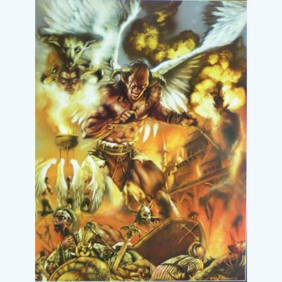 Page I Affiche Le diable dans les flammes ; De fali ; Civiello ; Signée & Numérotée 189 ex. ; 50x70