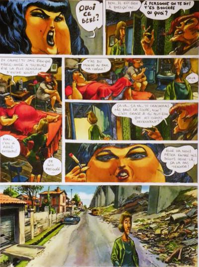 Page 1 Planche originale Le Singe et la Dame Blanche ; p°34