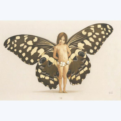 Page A Affiche Fée n° 1 Papillon ; Erlé ; 20x30