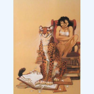 Page A Affiche Jaguar ; Frank Pé ; Signée & Numérotée 250 ex. ; 40x60
