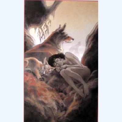 Page O Affiche Louve ; Frank Pé ; Signée & Numérotée 250 ex. ; 40x60