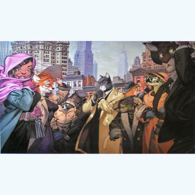 Page E Affiche New Yord Couleur ; Guarnido ; 60x80