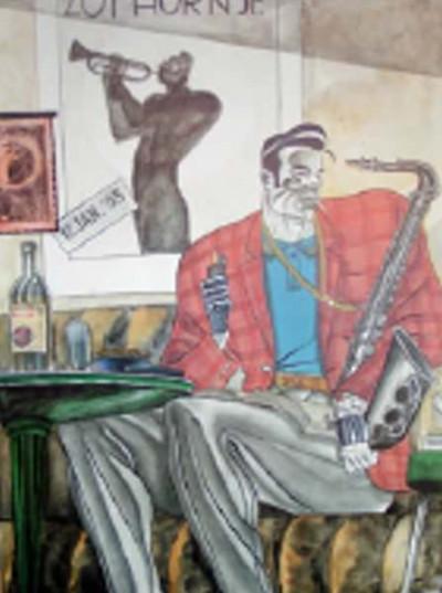 Page A Affiche Jazz ; Igort ; Signée  ; 50x70