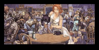 Page 1 Affiche John's blues - Guarnido - 50x100
