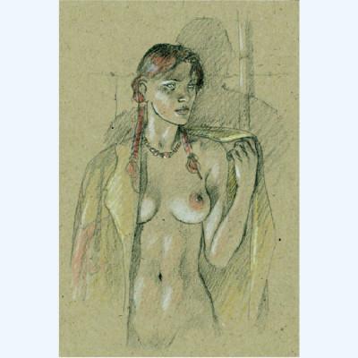Page D Affiche Ariane dénudée ; Juillard ; 20x30