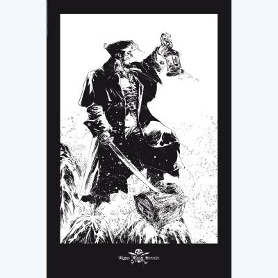 Page 3 Affiche Long John Silver Noir et Blanc ; Lauffray ; 40x60