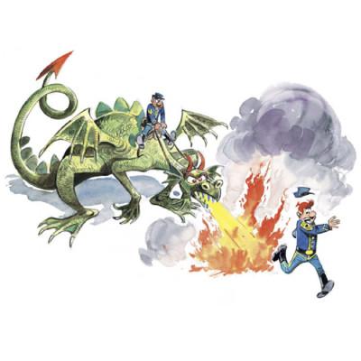 Page R Affiche Dragon ; Lambil  ; 30x40