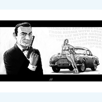 Page O Affiche James Bond ; Le Pon ; 30x40