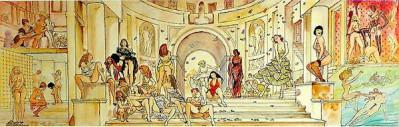 Page O Affiche Le Lupanard ; Manara ; 40x90