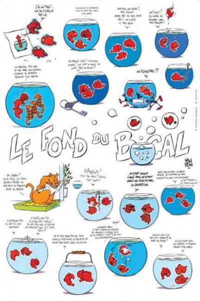 Page G Affiche Le fond du bocal chat ; Poupon ; 70x100