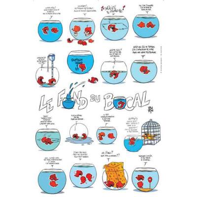 Page P Affiche Le fond du bocal éponge ; Poupon ; 40x60