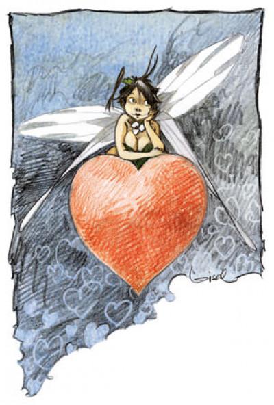 Page 2 Affiche Clochette coeur - Loisel - 1000ex. - 30x40