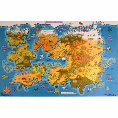 Page A Affiche Cartographie du monde ; Troy ; Tarquin ; Arleston ; Signée  ; 65x98