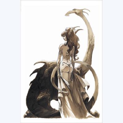 Page R Affiche Dragon ; Tarquin ; Arleston ; Signée  ; 40x60