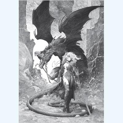 Page 3 Affiche Dragon N° 13 Femme ; Varanda ; Signée & Numérotée 200 ex. ; 50x70