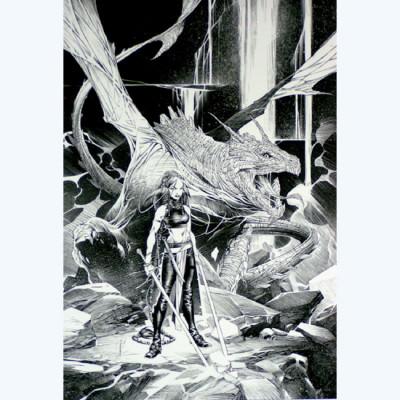 Page 4 Affiche Dragon N°4 ; Varanda ; Signée & Numérotée 280 ex. ; 50x70