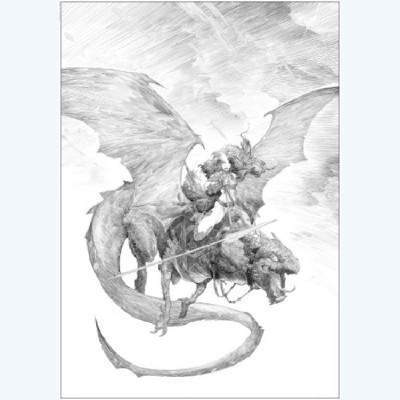 Page 8 Affiche Dragon N°8 ; Varanda ; Signée & Numérotée 200 ex. ; 50x70