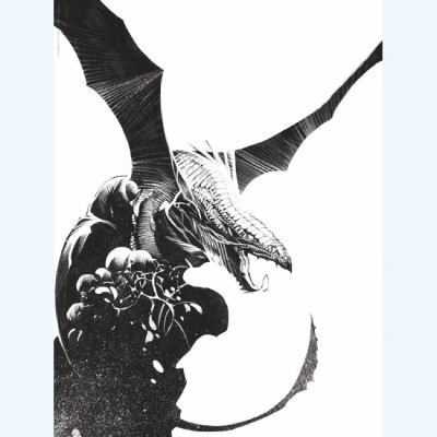 Page 9 Affiche Dragon seul N°9 ; Varanda ; Signée & Numérotée 200 ex. ; 30x40