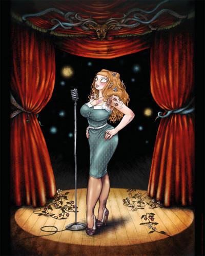 Page 1 Affiche Burlesque Girrrl numérotée et signée